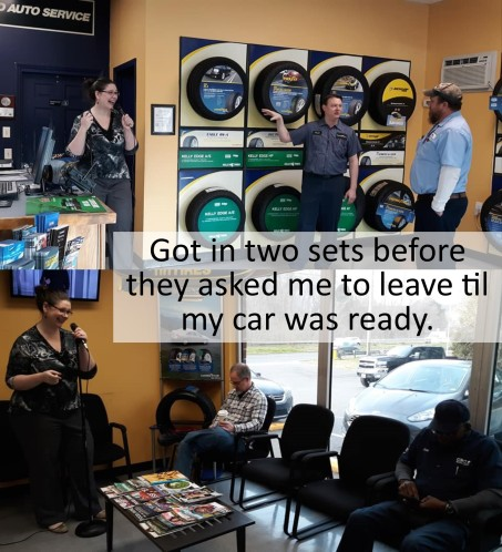 car oil change comedy