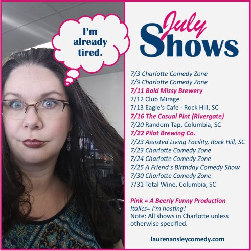 lauren july shows 2